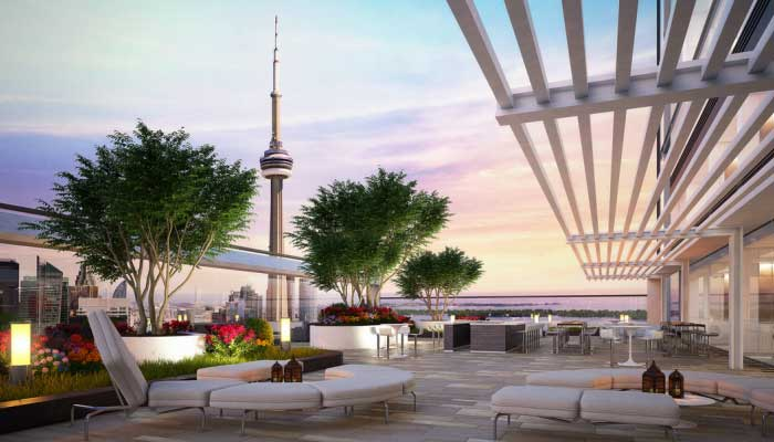 The CN Tower, Blue Jays, Union Station, and King West are all only a few steps away